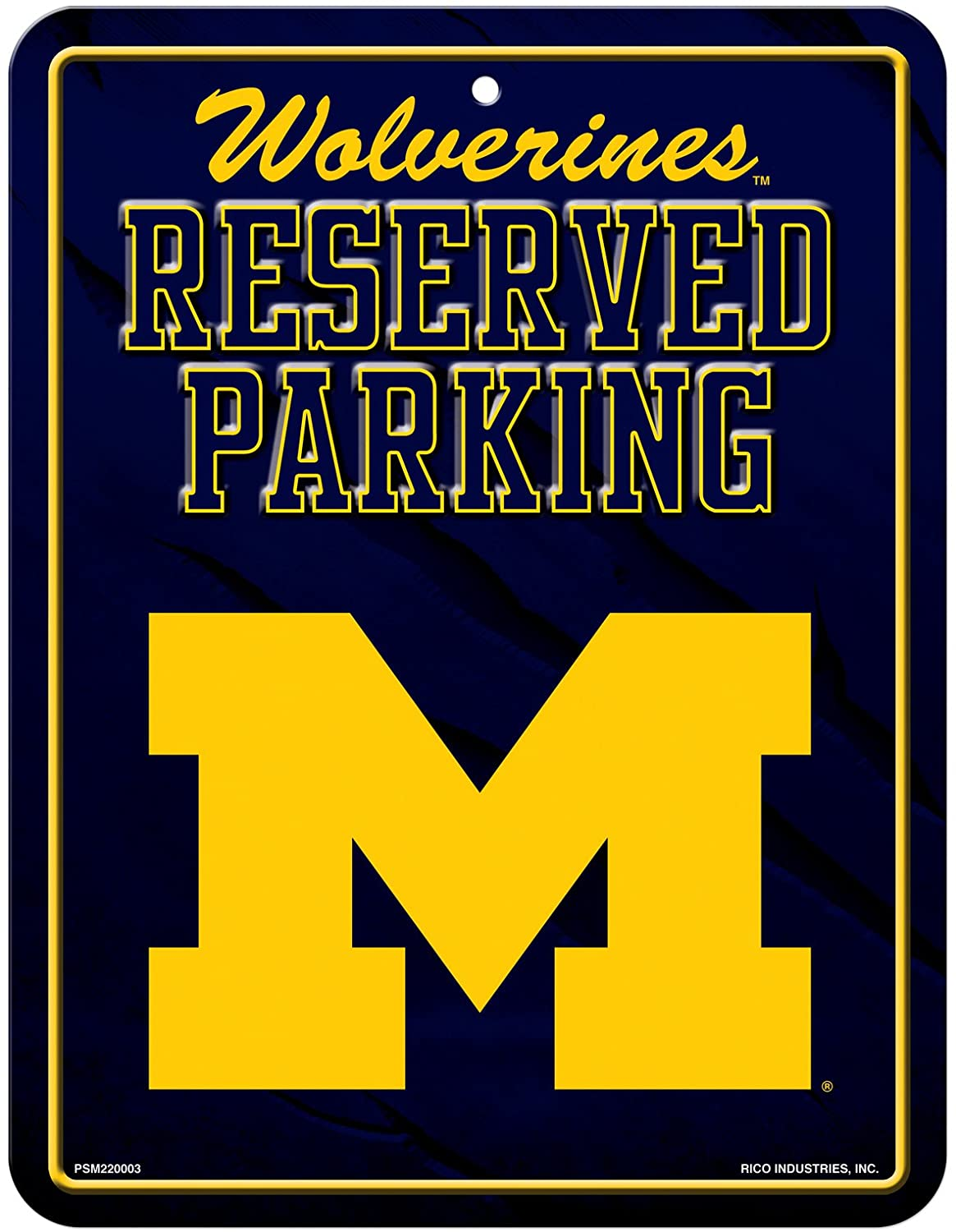 Rico Industries NCAA Unisex 8.5-Inch by 11-Inch Metal Parking Sign Décor
