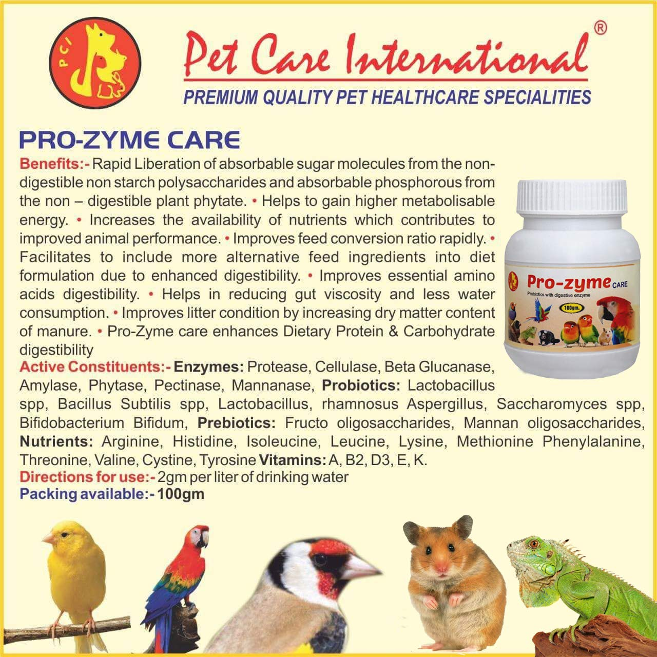 Amazon.com: Pet Care International (PCI Pro-Zyme Care ...