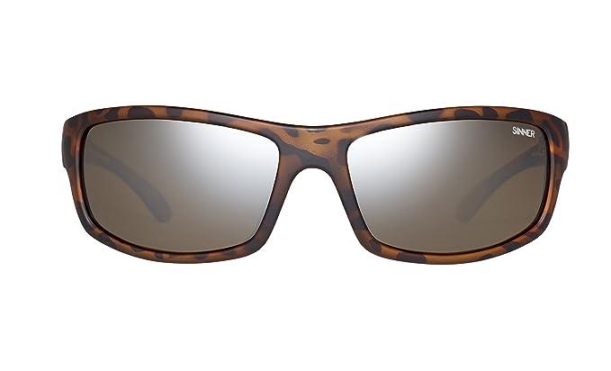 eff18bbc7e Sinner Monarch Matte Tortoise Sintec Brown FL Mirror Polarized Wrap ...