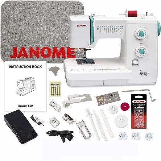 Janome Sewist 500 máquina de coser con exclusivo paquete de bono ...