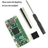 ラズパイ・ゼロ専用キット 高品質アクリル・ケース+アルミ・ヒートシンク+GPIO ヘッダー+ミニ・スクリュードライバー 四点セットRaspberry Pi Zero Kit (クリア)[このケースはRaspberry PI Zero Wirelessに適用ではありません]