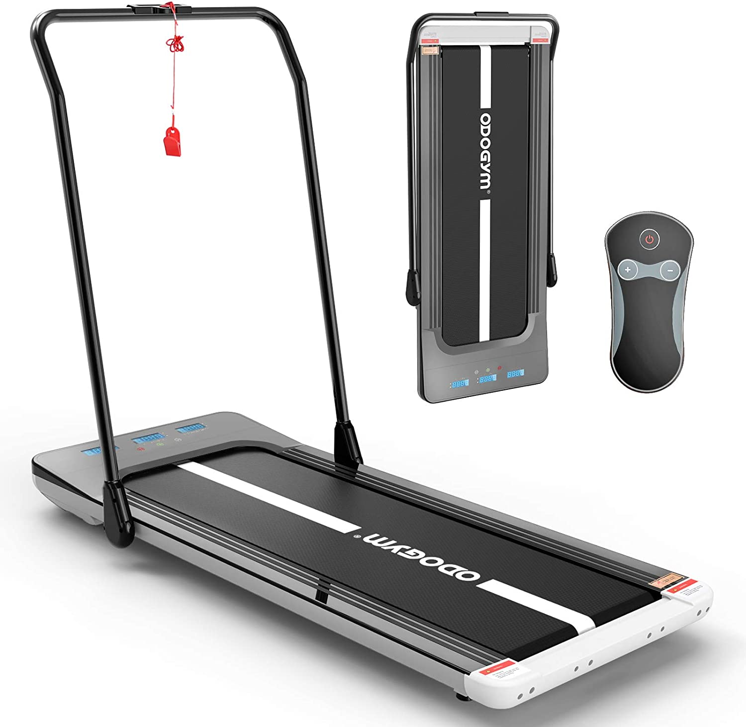 ODOGYM Under Desk Treadmill Walking Pad Foldable Aerobic Sport Fitness Equipment, Footstep Induction Speed Control Space Walk Machine, Walking Jogging Machine for Home/Office