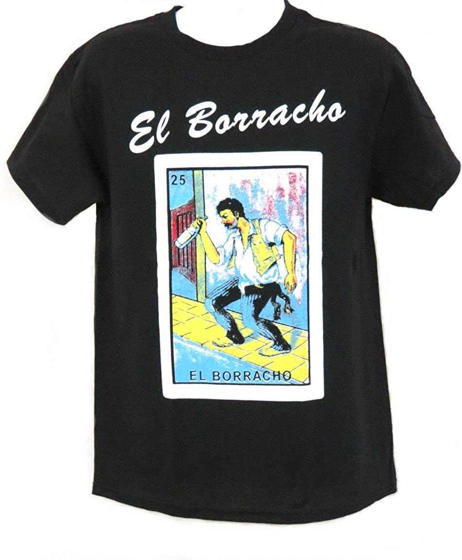 2a7090a1c4 Amazon.com: Mexican Loteria Unisex Black T-Shirt Funny by Leos Imports:  Clothing