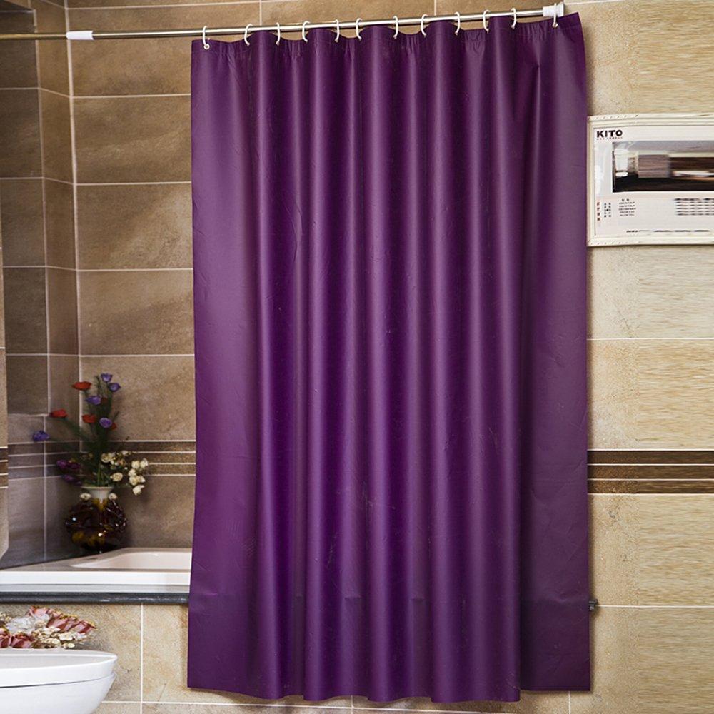 "Riverbyland Purple Waterproof Shower Curtains 72"" x 80"""