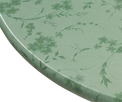 Amazoncom Miles Kimball Floral Swirl Vinyl Elasticized Table Cover - 56 inch round table