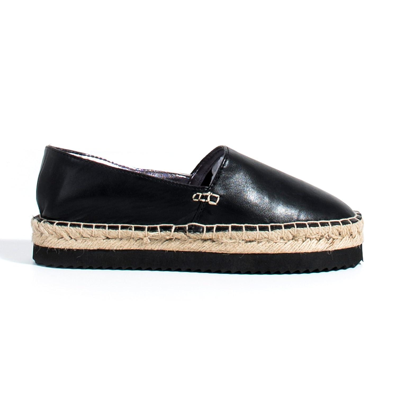 Parfois - Espadrilles Yute & Eva - Mujeres - Tallas 41 - Negro: Amazon.es: Zapatos y complementos