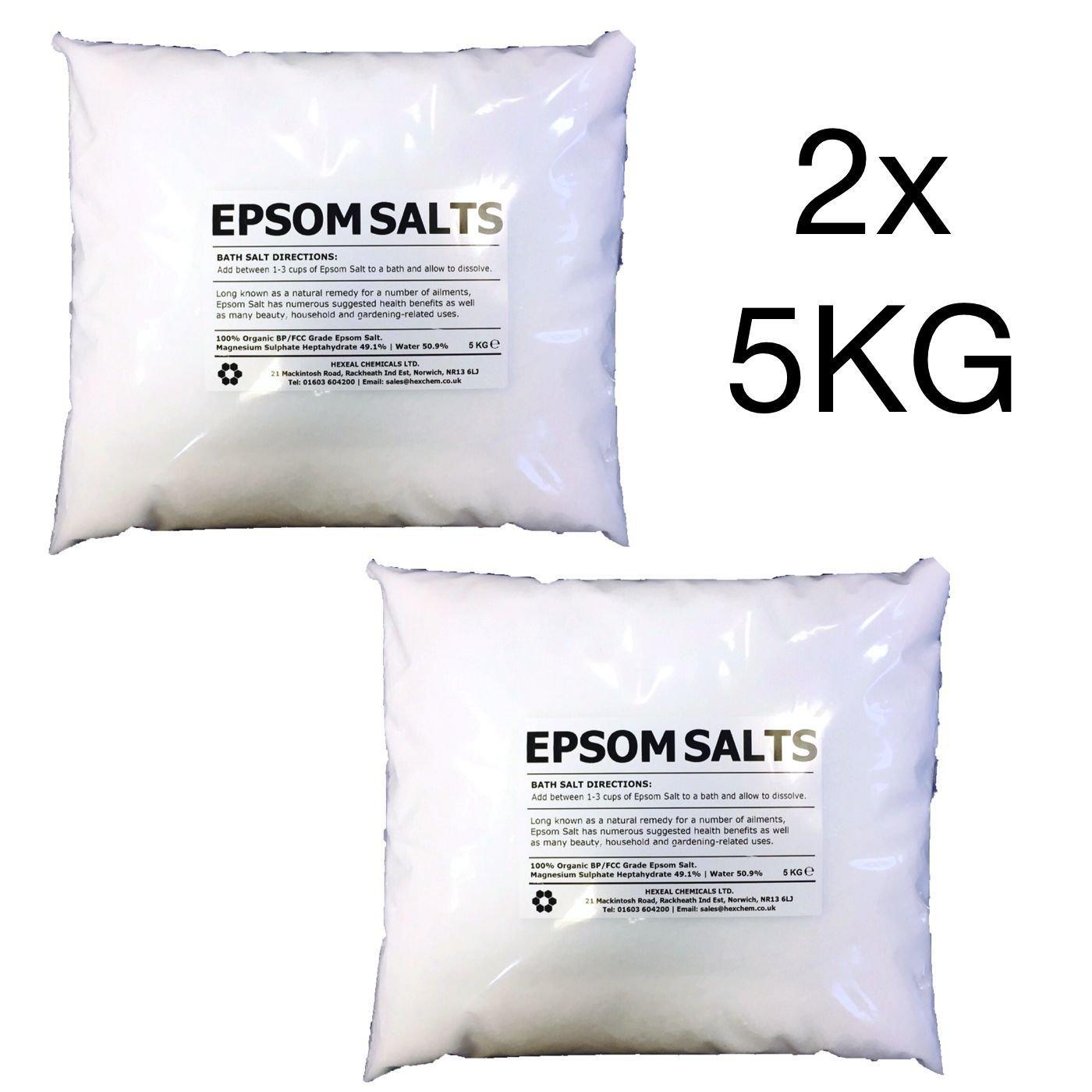 EPSOM BATH SALTS | 10KG BAG | 100% Organic | FCC Food Grade | Magnesium Sulphate Kali-GmbH