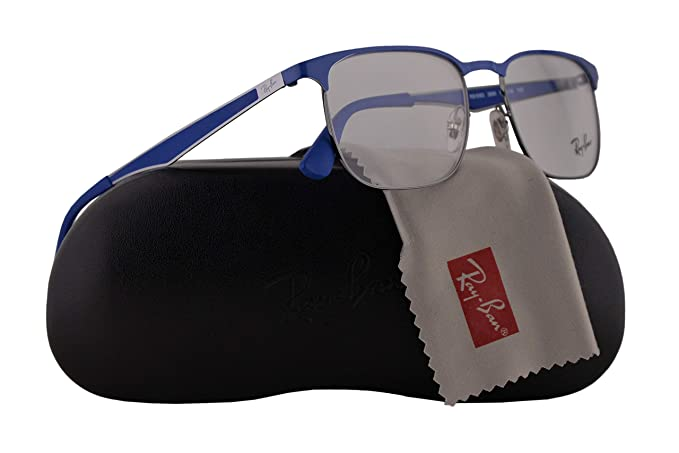 d1ed64044d Ray Ban RX6363 Eyeglasses 52-18-145 Grey Blue w Demo Clear Lens 2889 RX  6363 RB 6363 RB6363  Amazon.co.uk  Clothing