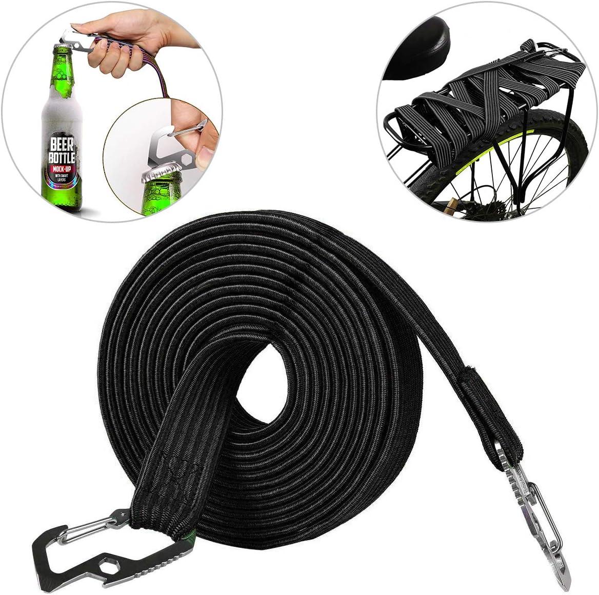 Stark Gummi Gepäck Elastisch Riemen Kabel Set Mit Haken Seil