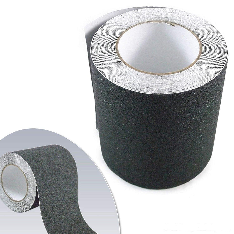 THREEMOM Safety Non Skid Tape Anti Slip Tape Sticker Grip Safe Grit 6' x 30' Black Roll