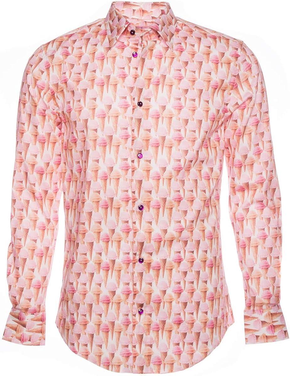 Coton Doux Mens Regular Shirt Pink D1521