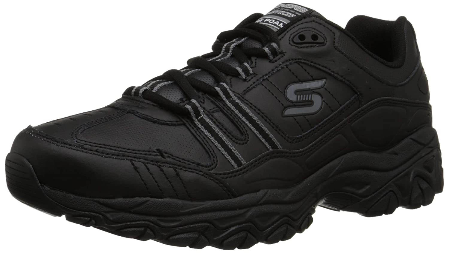 Skechers Sport Hommes Afterburn Memory Foam Strike Strike on Training chaussures, Noir  100% de contre-garantie authentique
