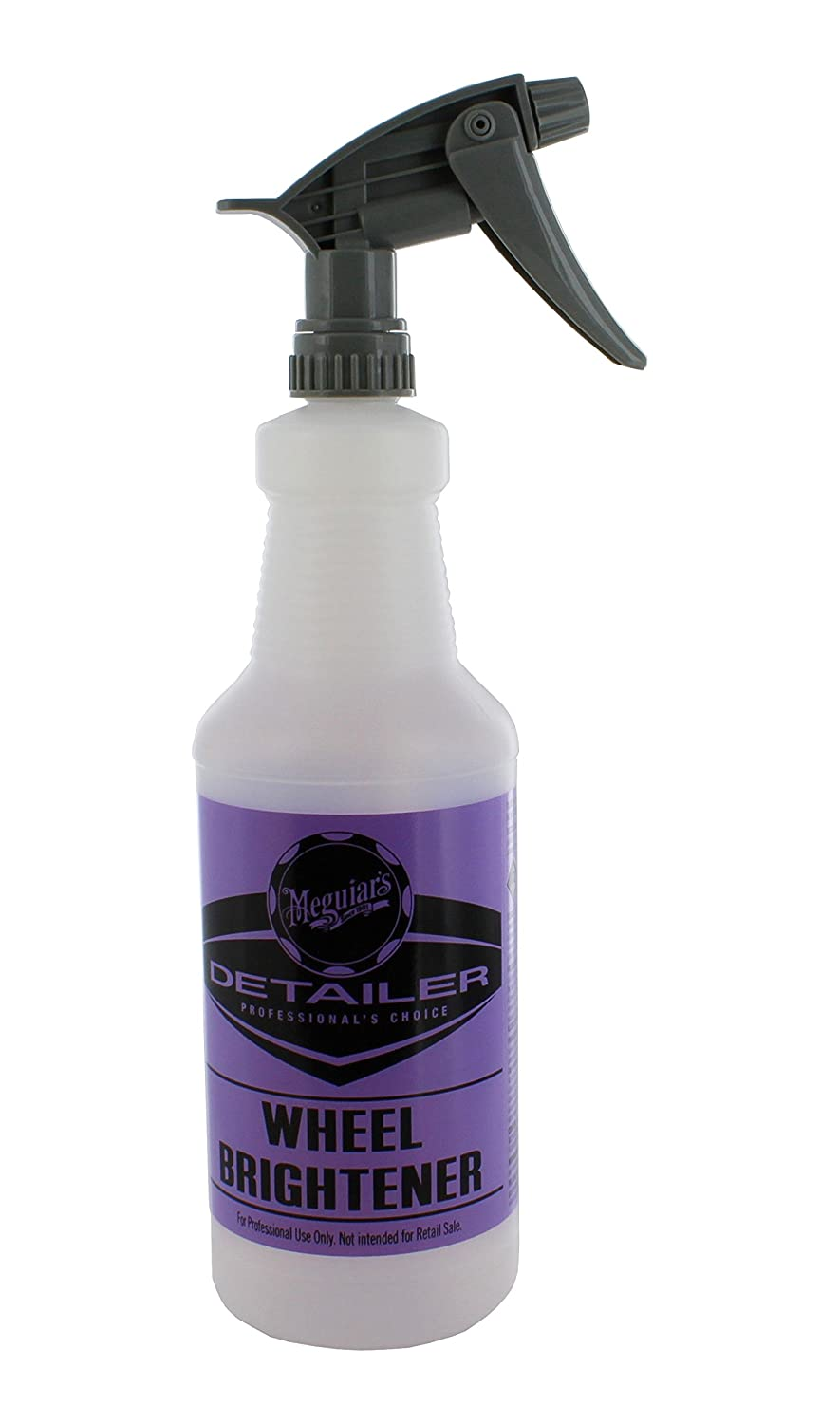 Meguiar's D20140 Wheel Brightener Bottle - 32 oz. Capacity W/ Meguiar's D110542 Chemical Resistant Sprayer Meguiars