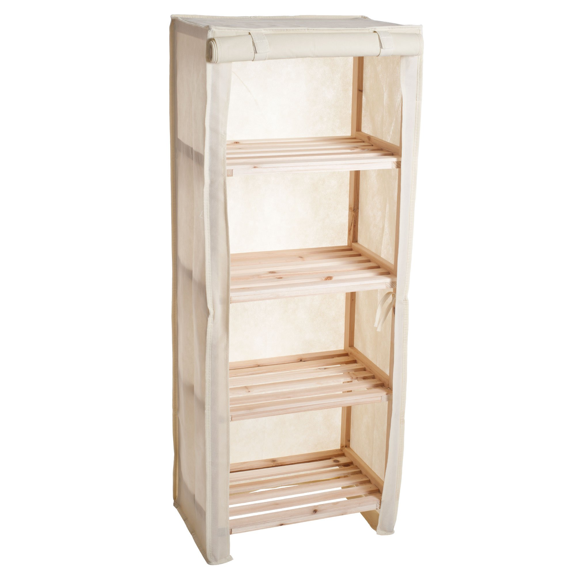 Lavish Home Wood Shelf With Removable Cover by Lavish Home