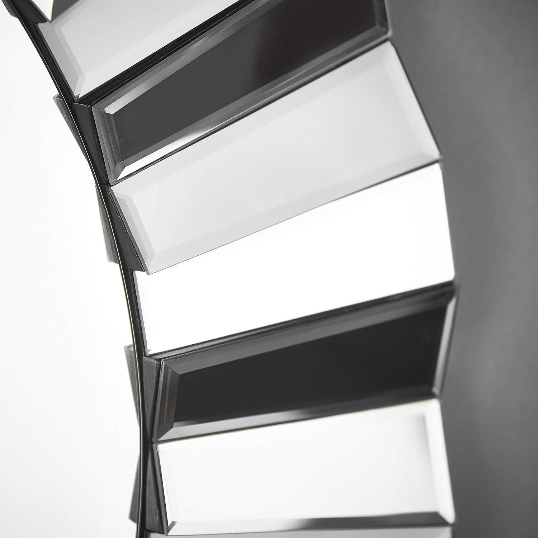 soggiorno corridoio effetto vetro 3D per camera da letto Carme Knightsbridge Specchio rotondo da parete colore: grigio argento