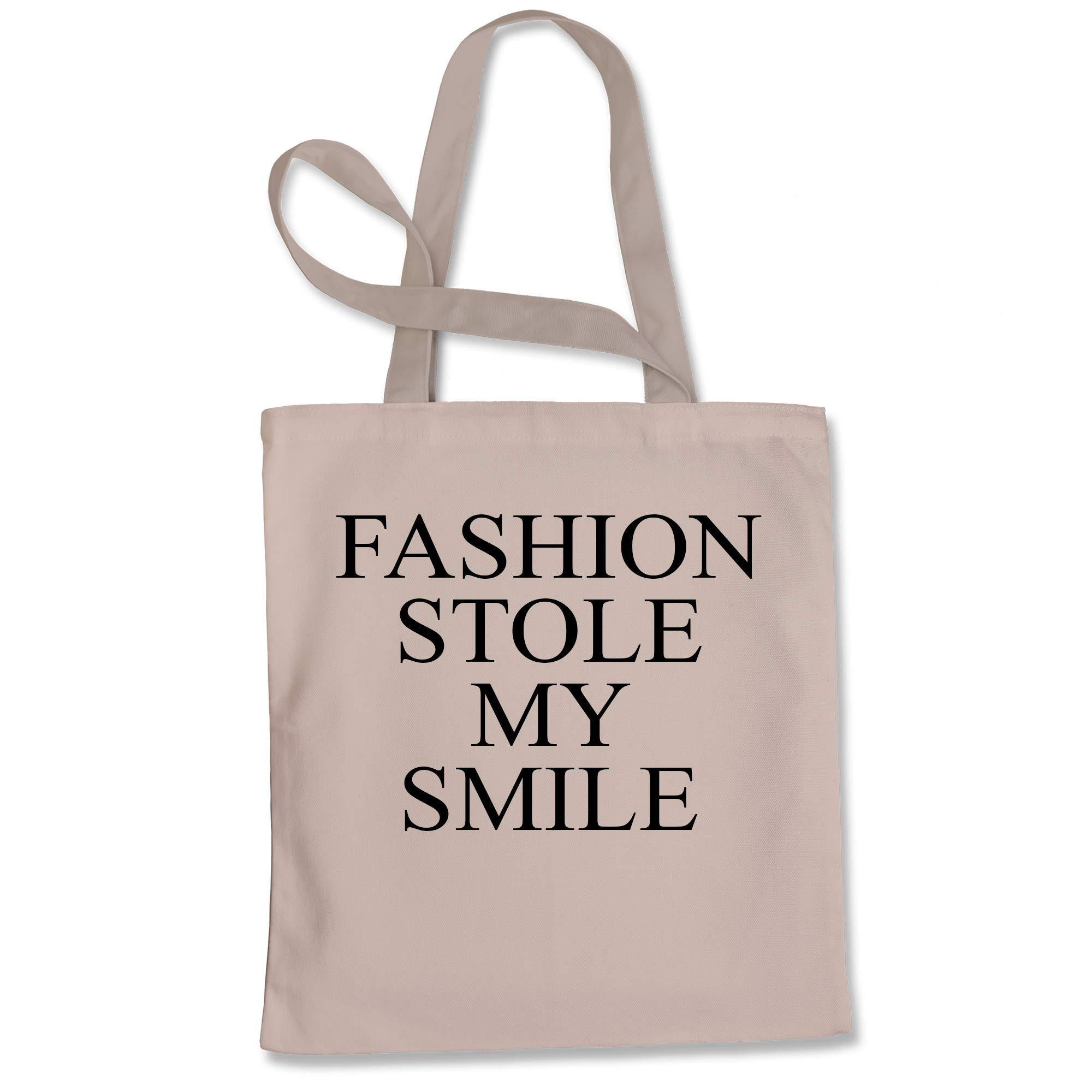 Tote Bag Fashion Stole My Smile Victoria Natural Shopping Bag