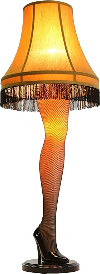 A Christmas Story House A Christmas Story Full Size 45 Leg Lamp Cream Floor Lamps