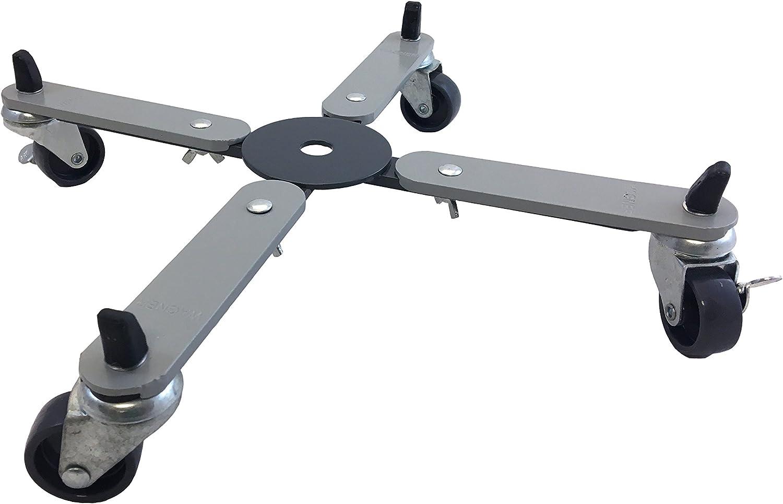 Stahl pulverbeschichtet Tragkraft 75 kg f/ür T/öpfe 22-33 cm WAGNER Pflanzenroller 20081701 ausziehbar 26-37 x 5,7 cm 3 Rollen Sun City SMALL