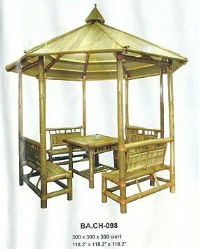 Bambou de meubles de jardin gazebo tonnelle tente pavillon jardin ...