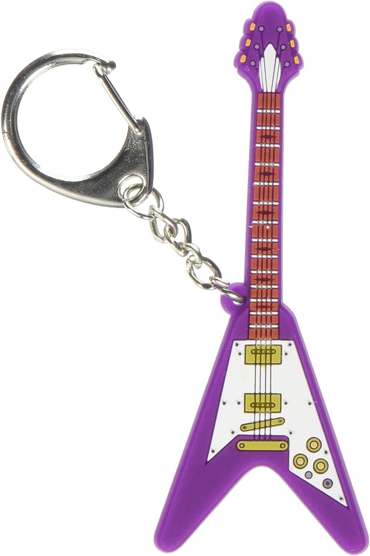 Mi Música de Regalos para Guitarra eléctrica V PVC Llavero: Amazon ...