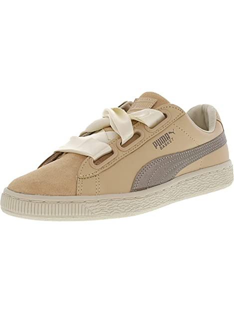 PUMA Womens Basket Heart Up Casual Sneakers,