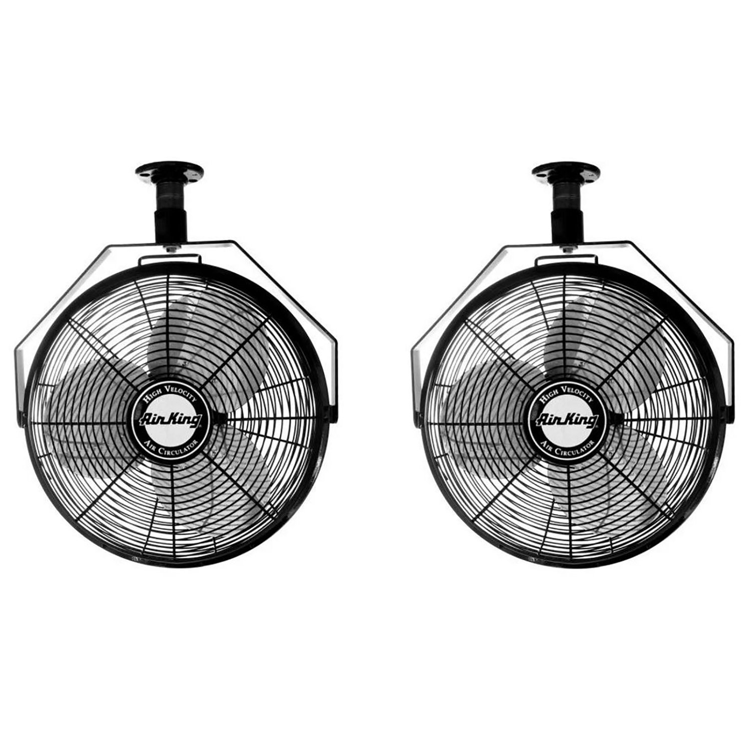Air King 18'' 1/16 HP 3-Speed Non-Oscillating Enclosed Ceiling Mount Fan (2 Pack)