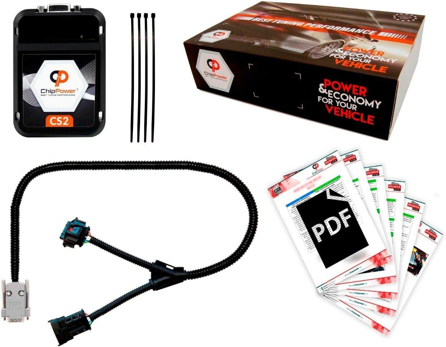 1.6 2.0 FSI 2003-2012 Chip TuningBox Benzin Chiptuning ChipPower CS2 f/ür A3 8P