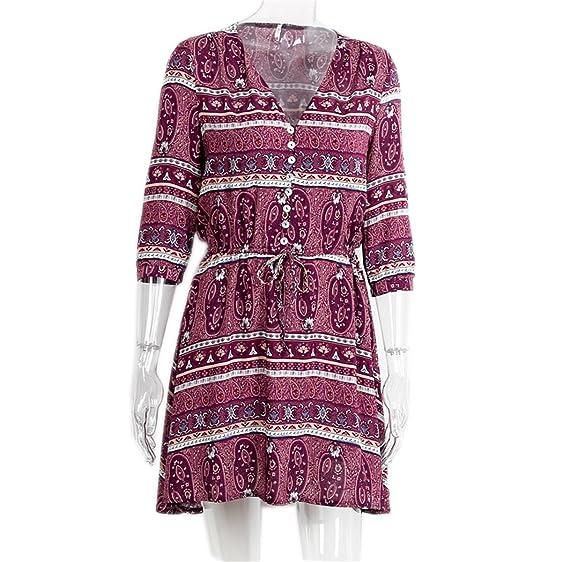 DaveDu elegante estampa floral curto dress mulheres paisley pescoço v sexy dress outono do vintage botão