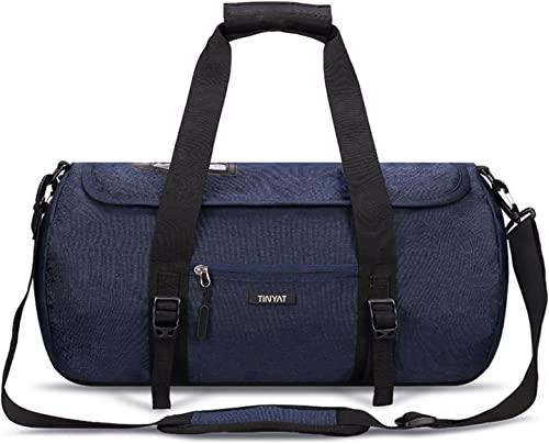 TINYAT Business Luggage Carry On Bag Travel Duffel Gym Duffle T305 Blue 350