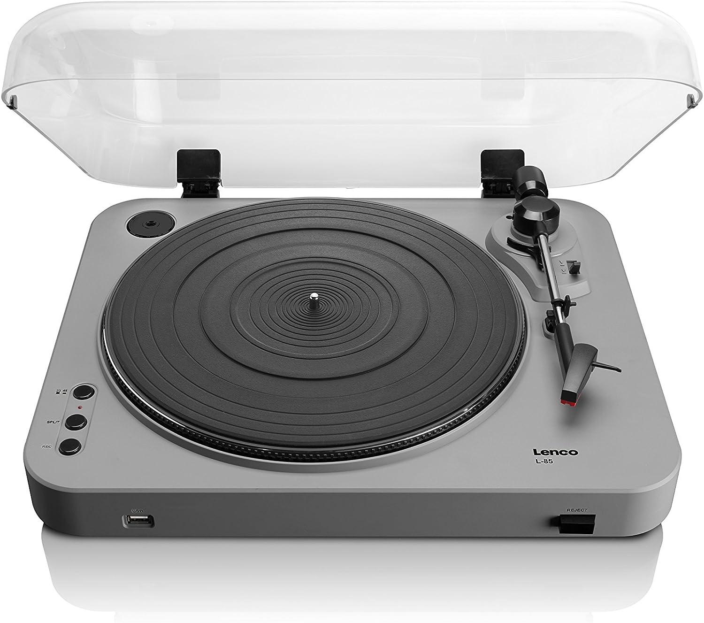 Lenco L-85 - Tocadiscos para Equipo de Audio (MP3, USB), Plateado ...