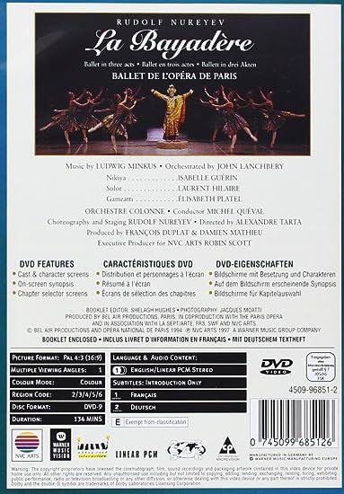 La Bayadère - Rudolph Noureev [DVD]: Amazon.es: Isabelle Guérin ...