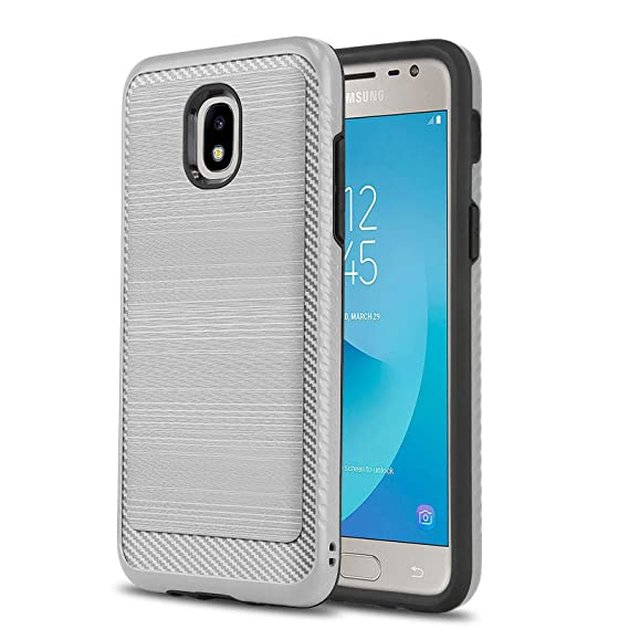 Phone Case for [Samsung Galaxy J3 Orbit (S367VL)], [Modern Series][Silver]  Shockproof Cover [Defender] for Samsung Galaxy J3 Orbit (Tracfone, Simple