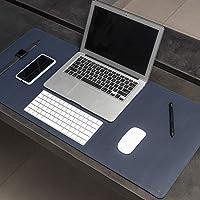 Mouse Pad Desk Pad Max em Couro Ecologico 90x40cm - WORKPAD (Azul Marinho)