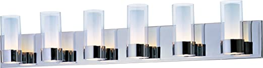 Maxim Lighting 23076clftpc Silo 6 Light Bath Vanity Polished Chrome Finish With Clear