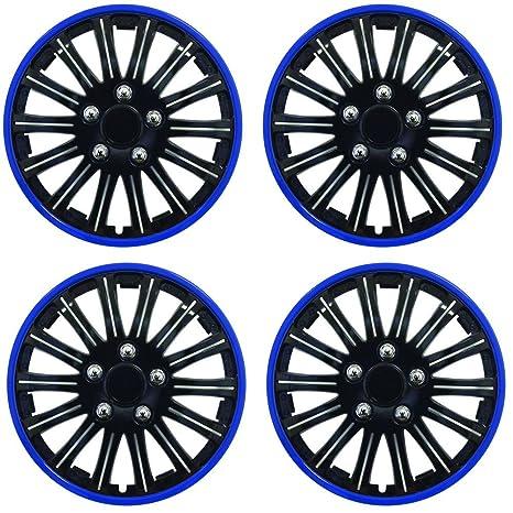 "Wing Mirrors World Renault Clio Car Tapacubos de plástico Cubre iluminación 15 ""Negro &"