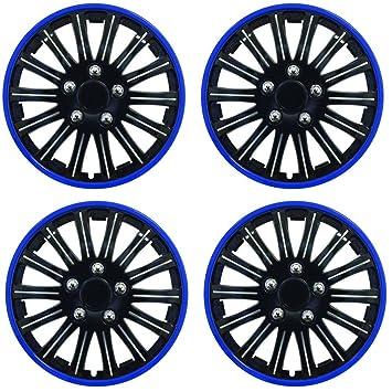"""Wing Mirrors World Ford Focus Coche tapacubos de plástico Cubre iluminación 15 """"Negro &"""