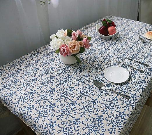 Desconocido D: Output Tablecloth_Hangzhou Yiqi Qiyun Trading Co, Ltd. Retro Porcelana Azul y Blanca de algodón clásico Chino y Mantel de Lino pequeño al por Mayor Fábrica de Calidad Directa Fabri: Amazon.es:
