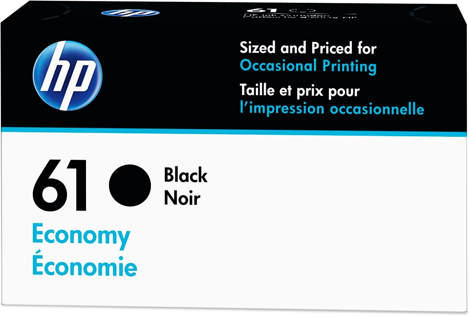 HP 61 | Ink Cartridge | Black | Economy Size | B3B07AN