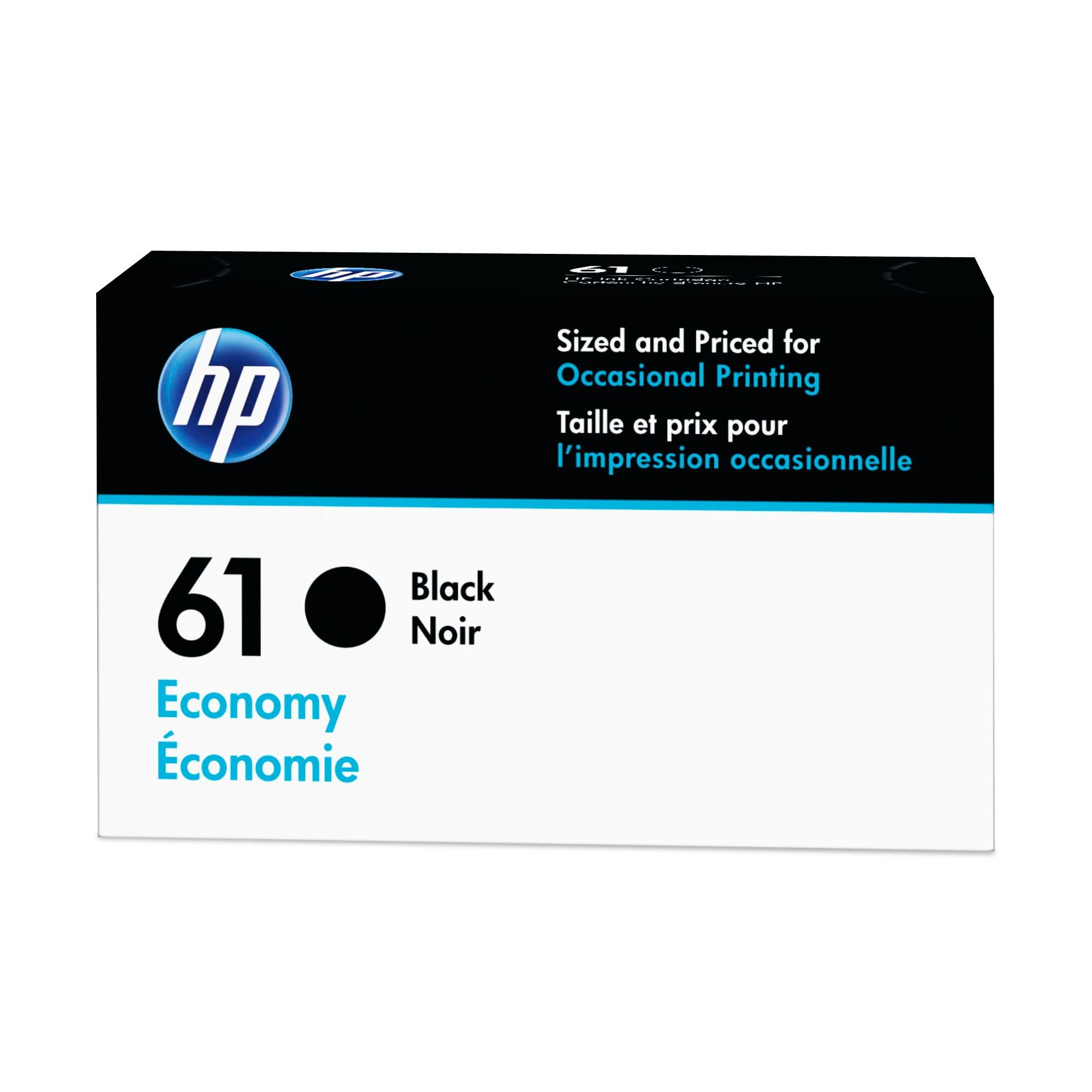 HP 61 Ink Cartridge Black Economy (B3B07AN) for HP Deskjet 1000 1010 1012 1050 1051 1055 1056 1510 1512 1514 1051 2050 2510 2512 2514 2540 2541 2542 2543 2544 2546 2547 3000 3050 3051 3052…
