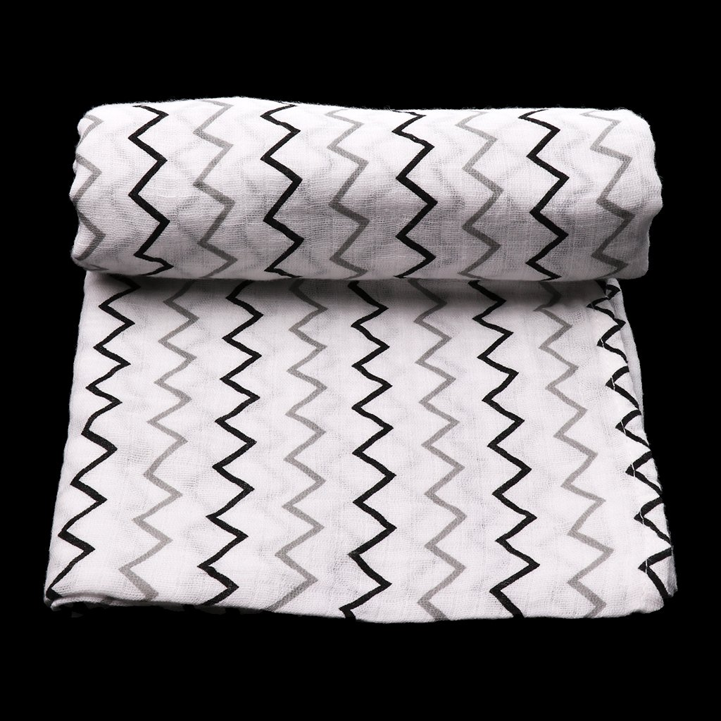 Dolity Baby Blanket Soft Muslin Bedding Blanket Wrap Swaddle Bath Casual Towel 110*110cm - Circle giraffe, as described