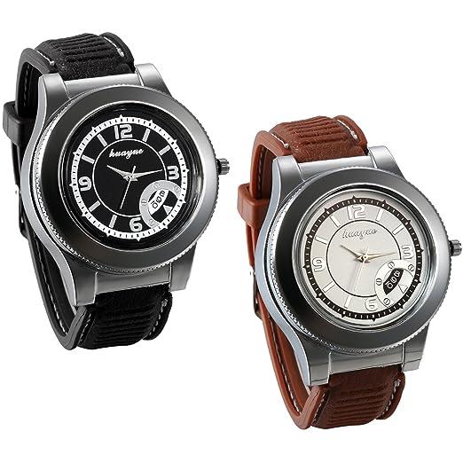 66b64cd57d93 JewelryWe 2 PCS Reloj Mechero Recargable Con USB 2 en 1 Grande Reloj  Silicona Deportivo Para Aire Libre