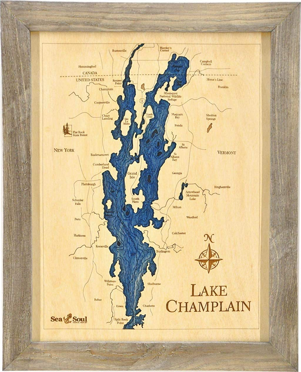 Sea & Soul Lake Champlain Nautical Decor Wall Art, 13