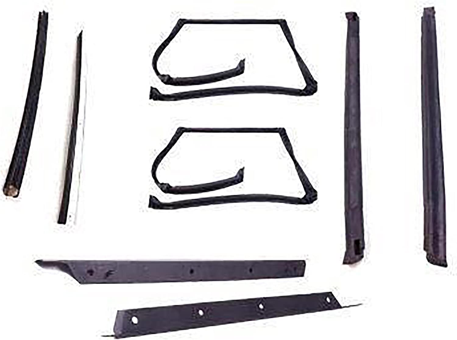 1982-1992 Camaro and Firebird T-Top Rubber Weatherstrip Side Rail Seals