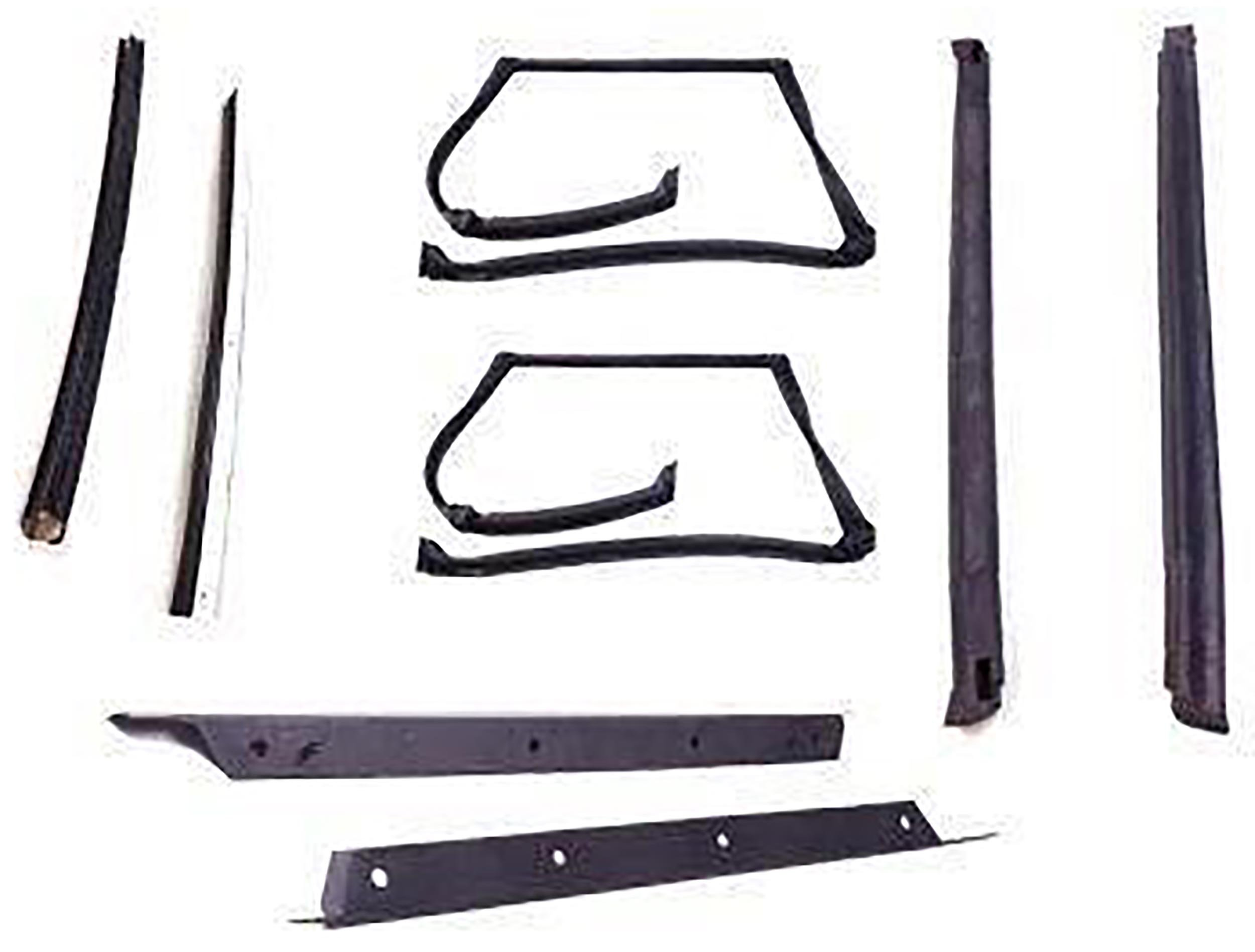 APDTY 140003 T-Top Rubber Seal Weatherstrip 8-Piece Kit Fits 1982-1992 Camaro or Firebird (Includes Rubber Trim Drip Edges; See APDTY-140002 For Plastic Drip Trim Edges) by APDTY