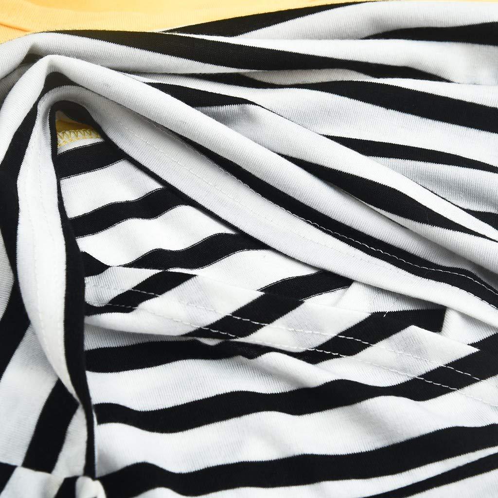 Y56 TM Womens Maternity Long Sleeve Striped Nursing Tops T-Shirt for Breastfeeding