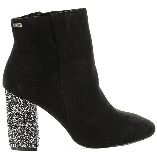 Botines de Mujer MTNG 58509 C5893 Negro: Amazon.es: Zapatos y complementos