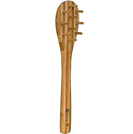 Tenedor para pasta de bambú de 30cm ♻ de gran calidad, respetuoso con el
