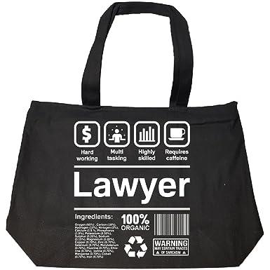 Lawyer Job Description   Amazon Com Lawyer Gifts Funny Job Description Tote Bag With Zip