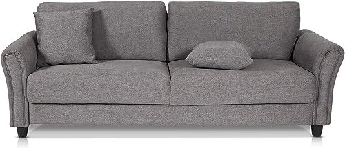 Recaceik Living Room Linen Futon Sofa