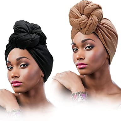 BLACK HEADWRAP HAIR WRAP BANDANA SELF TIE HAIR BOW HEADBAND LADIES